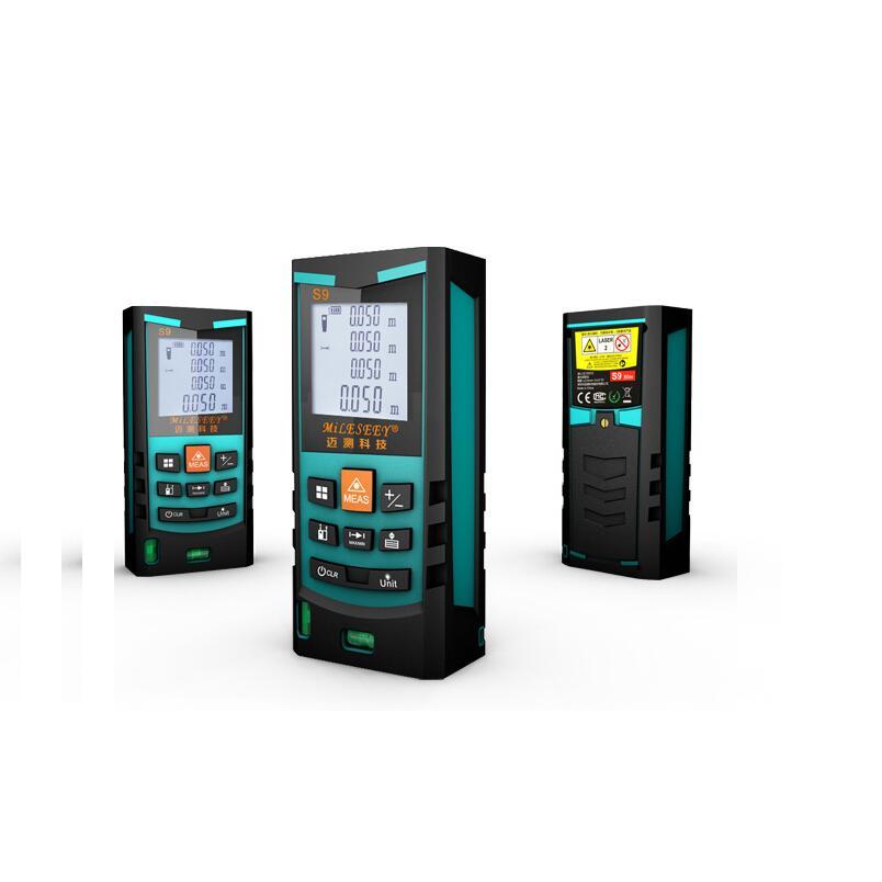Mileseey Distance Meter S9 50M Bubble Level Rangefinder Range Finder Tape Measure Area Volume Digital Laser