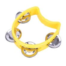 Музыкальный инструмент ручной бубен металлические колокольчики пластмассовая погремушка мяч ударные для KTV вечерние игрушки для детей