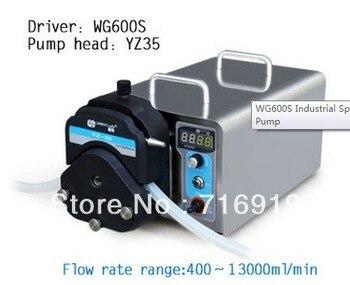 WG600S YZ35 Pompa Peristaltica testa PPS Lab Elettrica Industriale Pompa Peristaltica Facendo Fluido Acqua Pompe per Liquidi 400 ~ 13000 ml/min