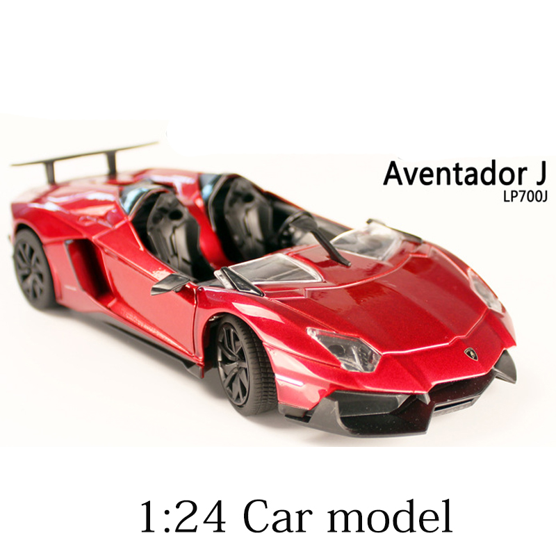 Italy Sports Car Aventador J Alloy Cars Static Model 1:24 Limited Edition Cabriolet Model Color Box Package Toys Gift For Boy 1 18 sports car model alloy static cars model toys hardcover edition locomotive office decoration business gift