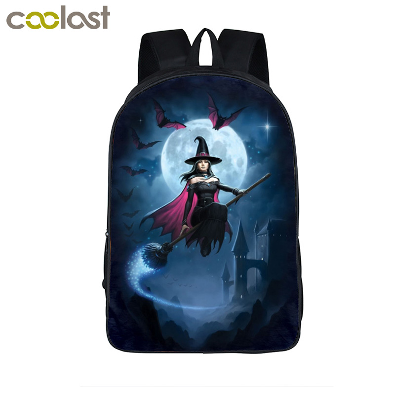 Magic Fantasy Fairy Witch Backpack For Teenagers Boys Girls School Bags Backpack Kids School Backpacks Children Book Gift Bag