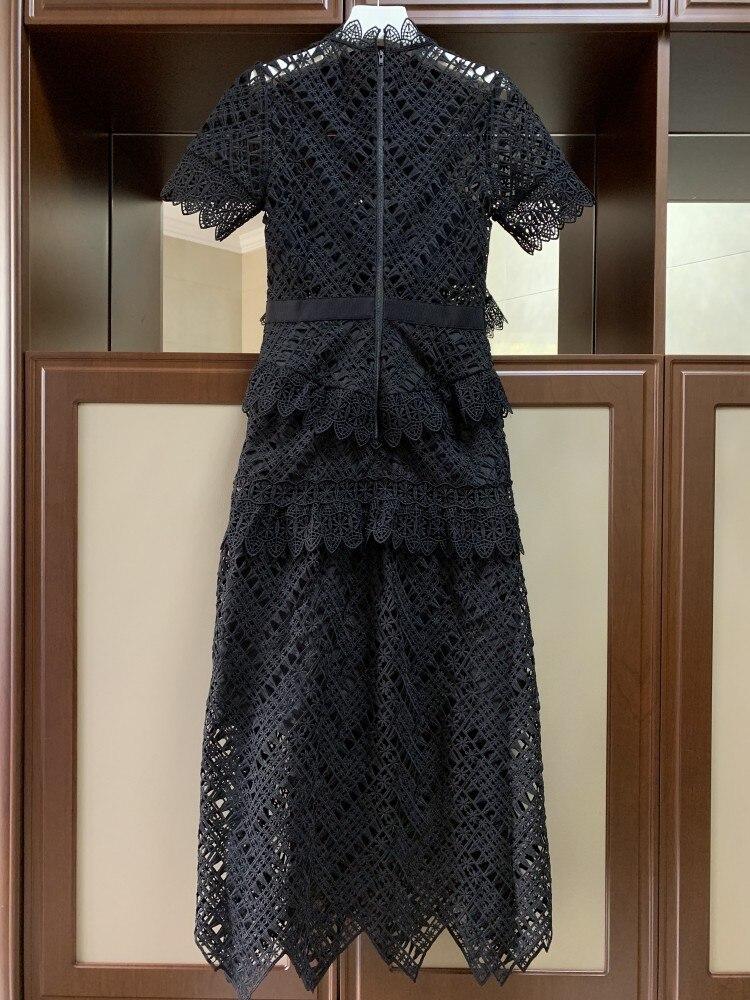 Black Sukienki Long Damskie 2019 Parti Femmes Femme Voir Fête Dentelle Longue Élégant De Robes Noël Si Robe 88r0q