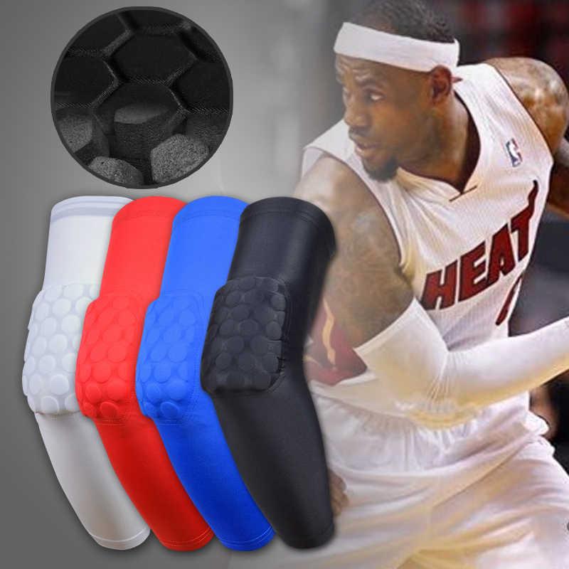 Yel Hot Honeycomb soporte de codo de baloncesto almohadillas de fútbol Scotch manga brazo Brace cintas deporte seguridad elástico vendaje codo almohadillas
