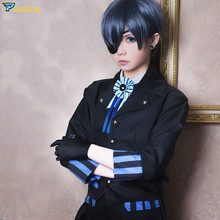 Anime Black Butler Ciel Phantomhive Cosplay Costumes Book of the Atlantic Kuroshitsuji Costume Halloween with Wig