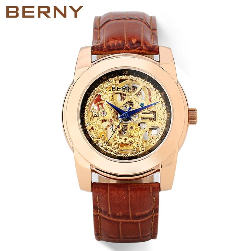 Berny horloge mannen mechanische en automatische herenhorloges luxe - Dameshorloges - Foto 2