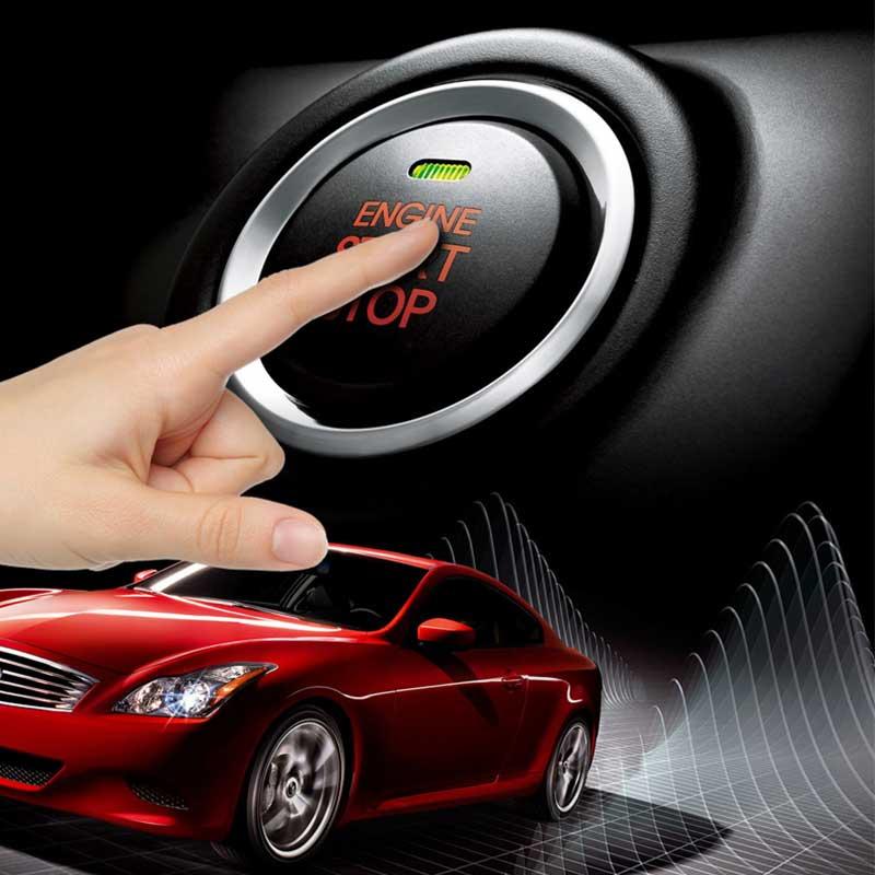 PKE démarrage à distance arrêt voiture sans clé bouton d'entrée automatique système d'alarme de voiture moteur Starline RFID Anti-vol verrouillage Central/déverrouillage