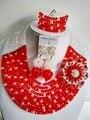 Blanco y Rojo de la manera de Nigeria Beads Africanos Boda Joyería Conjunto BJN006 Collares de Cristal Fijó El Envío Libre
