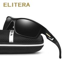 ELITERA Brand New TR90 Mens Polarized Sunglasses UV400 Vintage Sports Full Frame Eye Protection Sun Glasses Eyewear