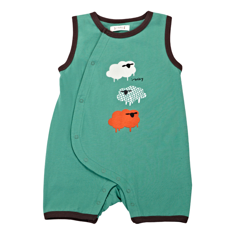 2017 Summer Newborn Infant Baby Romper Clothes Boy Girl Rompers 100% Cotton Short Sleeve Romper Jumpsuits Clothing Sheep Green newest 2016 summer baby rompers clothing short sleeve 100