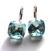 11.11 vente carré Designers Boucle D'oreille faite avec autriche cristal pour les femmes Boucle D'oreille bijoux de mode meilleur cadeau de noël