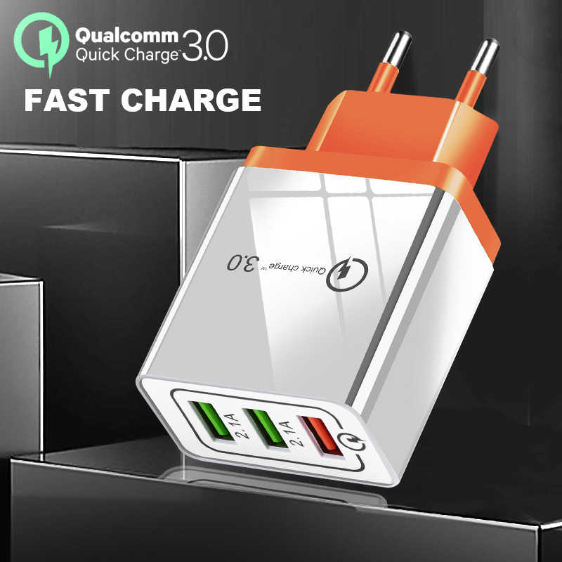 Suef 30W USB Quick Charge 3.0 Phone Charger For iPhone X 7 8 Fast Charging Wall Adapter Turbo For Xiaomi mi 9 Huawei P30 Samsung