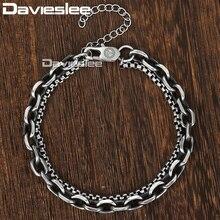 Mens Bracelet Chain Wholesale Jewelry Stainless-Steel Gunmatel for Women DDB11 Link
