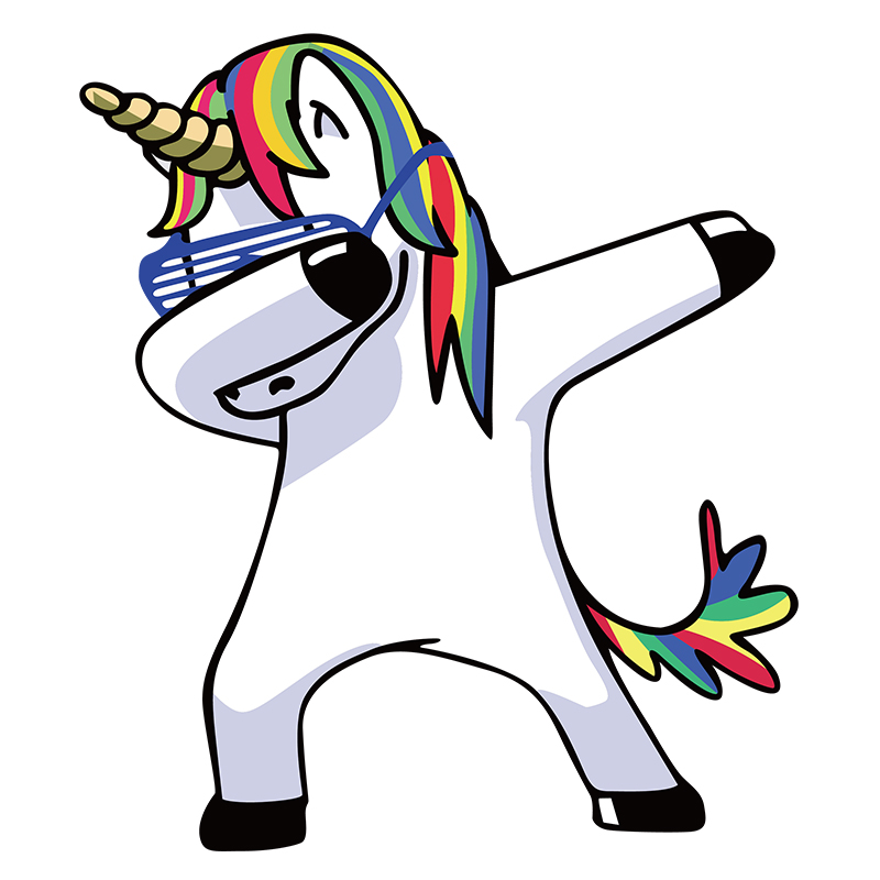 Dabbing unicorn ironing patches stickers for parent child diy heat transfer clothes funny animal - Unicorn dabbing pictures ...