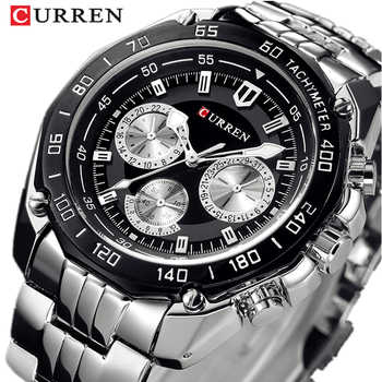 Watches Men's Full Stainless Steel Wristwatch CURREN Fashion Quartz Mens Watch Analog Sport Gentleman Clock Male Watch Relojes - DISCOUNT ITEM  44% OFF All Category