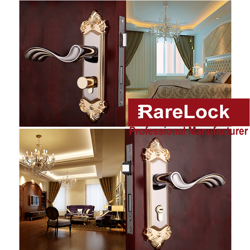 Lhx 2 color european style furniture handle for bathroom - Door handles with locks for bedrooms ...