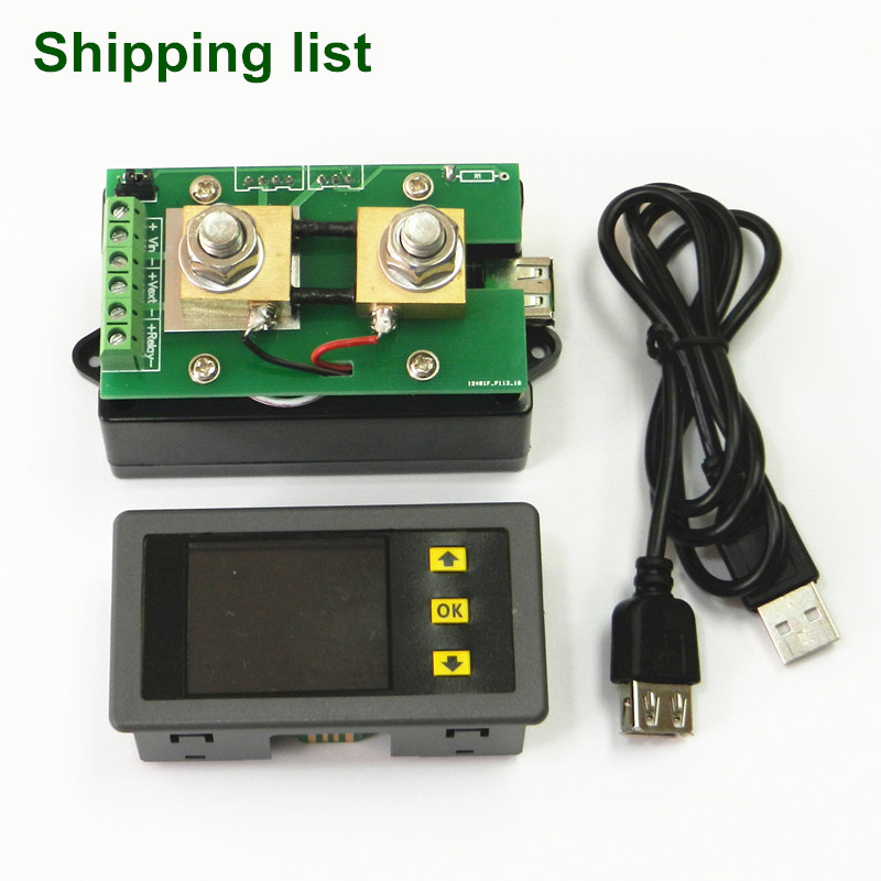 Multifunction Wireless DC Voltmeter Ammeter Power Meter 0-120V 100A +100A Shunt dc 100a analog ammeter panel amp current meter 85c1 gauge 0 100a dc shunt