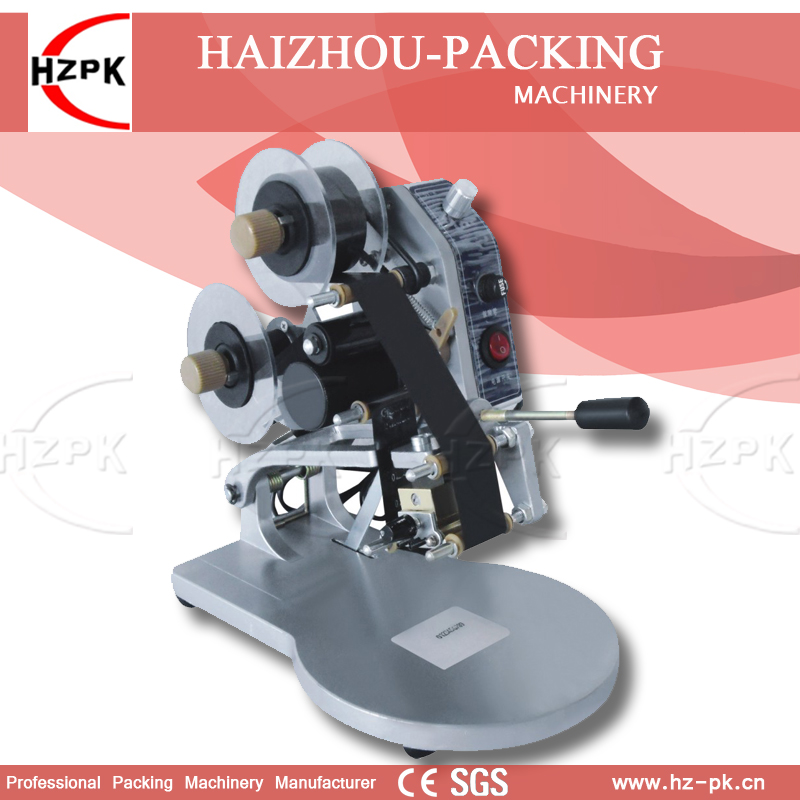 HZPK Manual Digital Coding Machine Plastic Code Bag Printing Machine Date Produce Printer Stamps Coding Machine With Handle DY-8 zonesun my 380 ink roll coding machine card printer produce date printing machine solid ink code printer painting type 220v