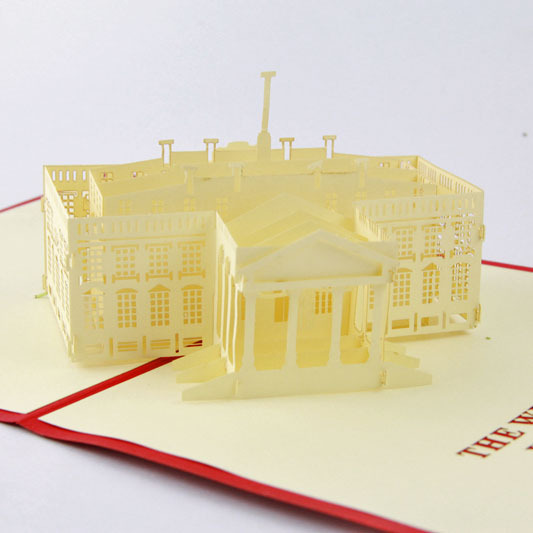 The White House Building 3D cubic life manual paper card card stereo Creative Tourism