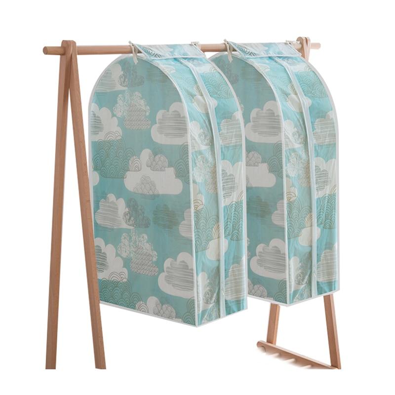 household clothes storage bag organizer hanging women clothing suit garment men coat dust covers. Black Bedroom Furniture Sets. Home Design Ideas