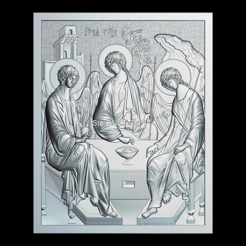 Day of the Holy Trinity_Pentecost 3D model relief figure STL format Religion 3d model relief  for cnc in STL file format 3d model relief for cnc in stl file format the girl from the bathroom