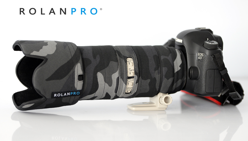 ROLANPRO Lens Camouflage Coat Rain Cover for Canon EF 70 200mm F2 8 L IS III