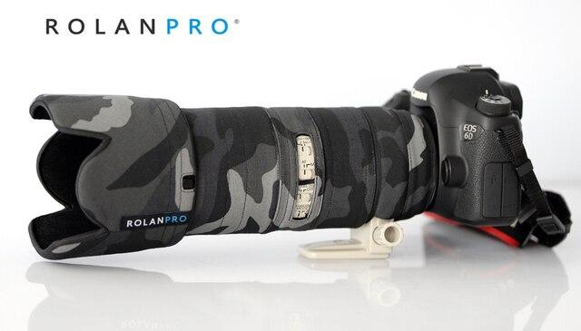 ROLANPRO เลนส์ Camouflage Coat Rain Cover สำหรับ Canon EF 70 200mm F2.8 L III USM ปืนป้องกันกรณี DSLR ป้องกัน