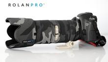 ROLANPRO Lens Kamuflaj Ceket yağmur kılıfı Canon EF 70 200mm için F2.8 L IS III USM Silahlar Koruyucu Kılıf kol DSLR Koruma