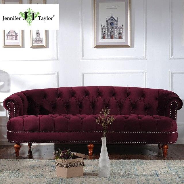 Jennifer Taylor Living Room Furniture La Rosa Tawny Port Sofa 85 W X