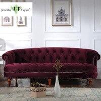 Jennifer Taylor Living Room Furniture La Rosa Tawny Port Sofa 85 W X 40 D X