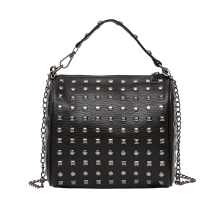 The punk style Messenger Bag  European and American style Vintage Bag Rivet Crossbody Bag Fashion Joker Shoulder Bag For Women punk style women s shoulder bag with rivets and union jack design