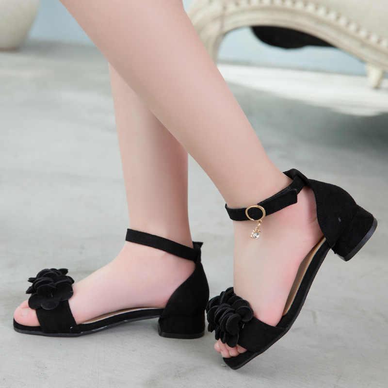 YOGLY Zapatos para Ni/ñas Princesa Zapatos Tacones Altos Baile Zapatos de Ni/ña Lentejuelas Mariposa