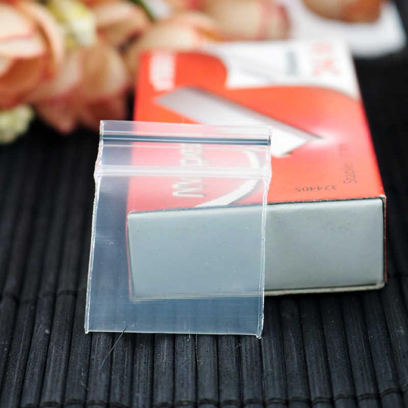 Ziplock Sacos de plástico de Jóias Zíper Poli Zip Lock Sacos Para Embalagens de Alimentos de Plástico Grosso e Transparente Saco de Armazenamento À Prova De Poeira 500 unidades/pacote
