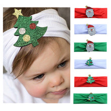 1pc Headband Christmas Tree Santa Claus Headwear Hair Band Head Piece Accessories Fashion Hot children kids Baby girls(China)