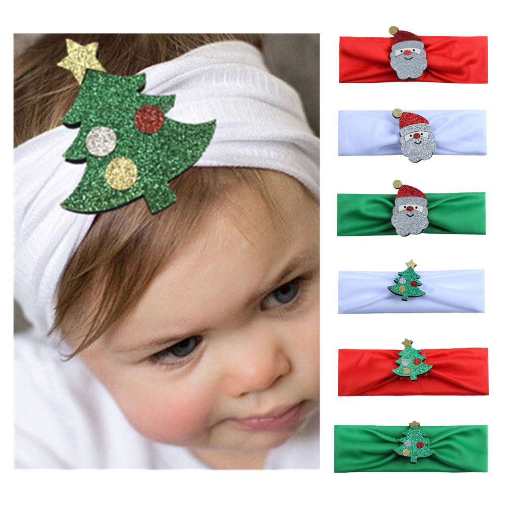 1pc Baby Headband Christmas Tree Santa Claus Headwear Hair Band Head Piece Accessories Fashion Hot Children Kids Baby Girls