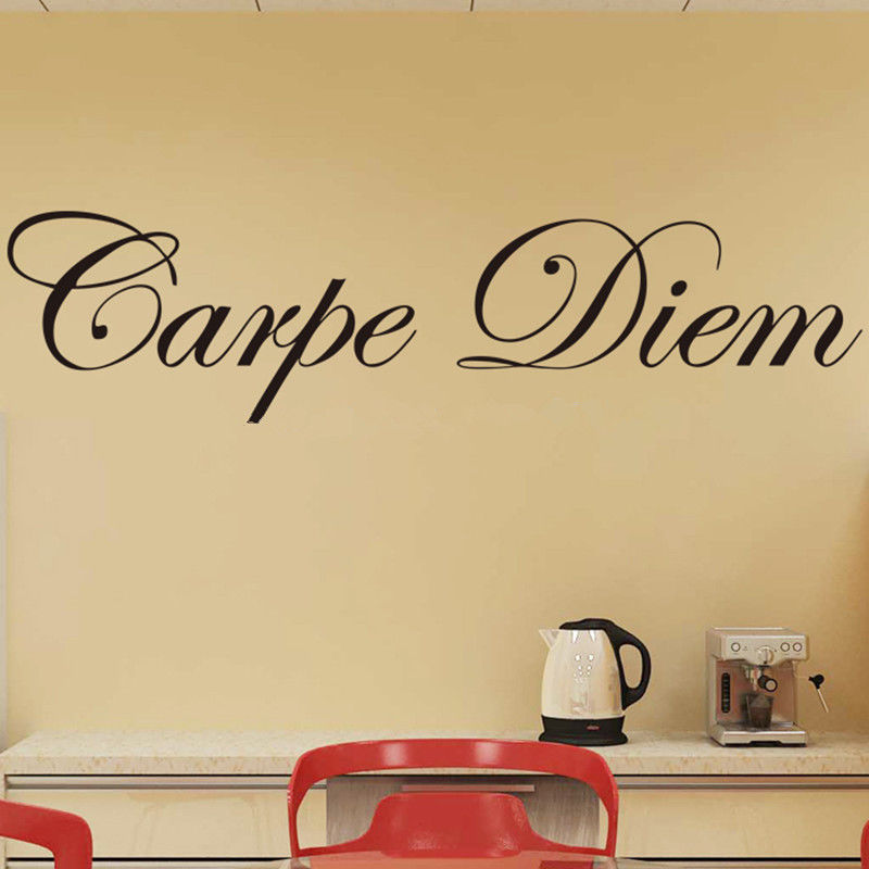 Fashion DIY Removable Quote Carpe Diem Saying Decal Home Room Decor ...