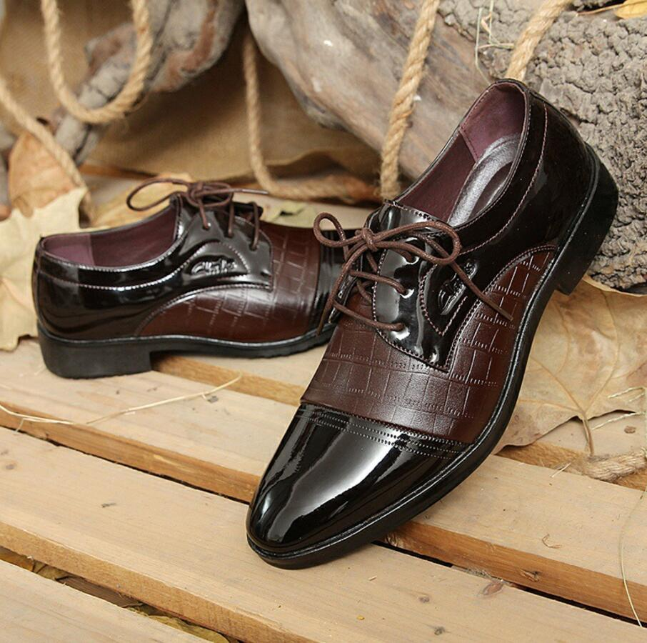 SAGYUA Luxury Brand Patent Leather Shoes Men Oxfords Men's Flats - Men's Shoes - Photo 4