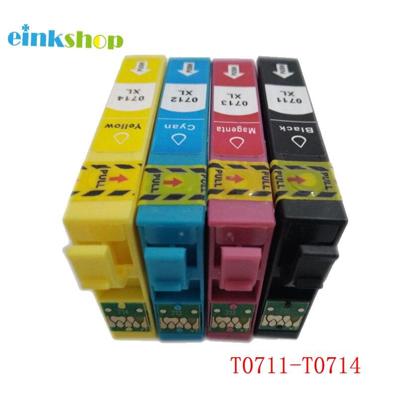 T0711 T0714 Ink Cartridges for Epson DX9400F D120 DX4050 DX4400 DX4450 DX5000 SX110 SX210 SX410 SX510W SX115 SX215 SX100 SX105 in Ink Cartridges from Computer Office