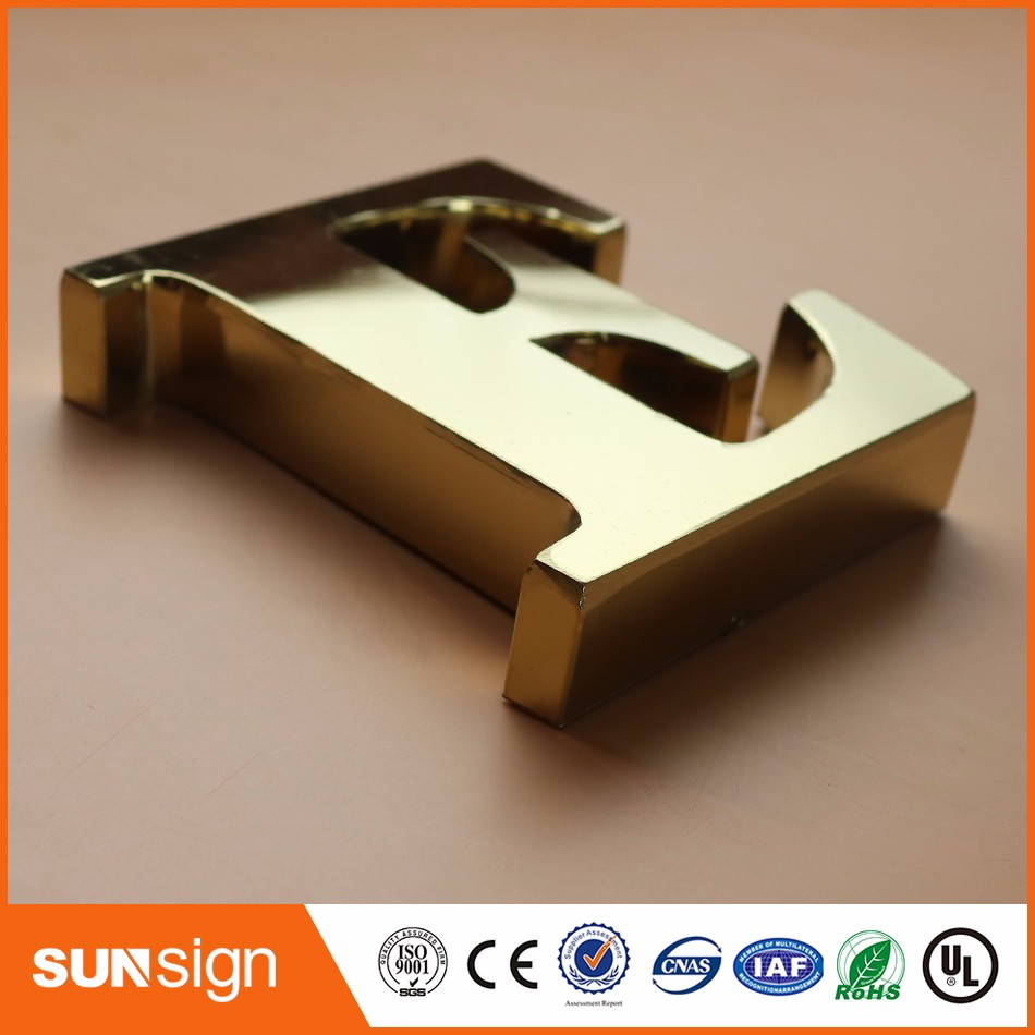 Durable Alloy 316 Stainless Steel Letter Sign