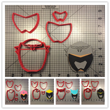 Dino Charge Character Black Ranger Graphite Fondant Cupcake Top Made 3D Printed Cookie Cutter Set