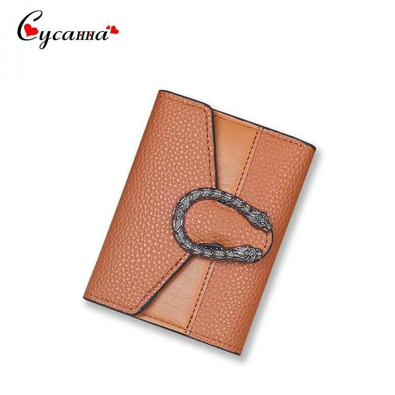 Роскошный дизайн, женский короткий кошелек, Женский кошелек, маленький кошелек с металлическим замком, отделение для монет, женские кошельки и кошельки