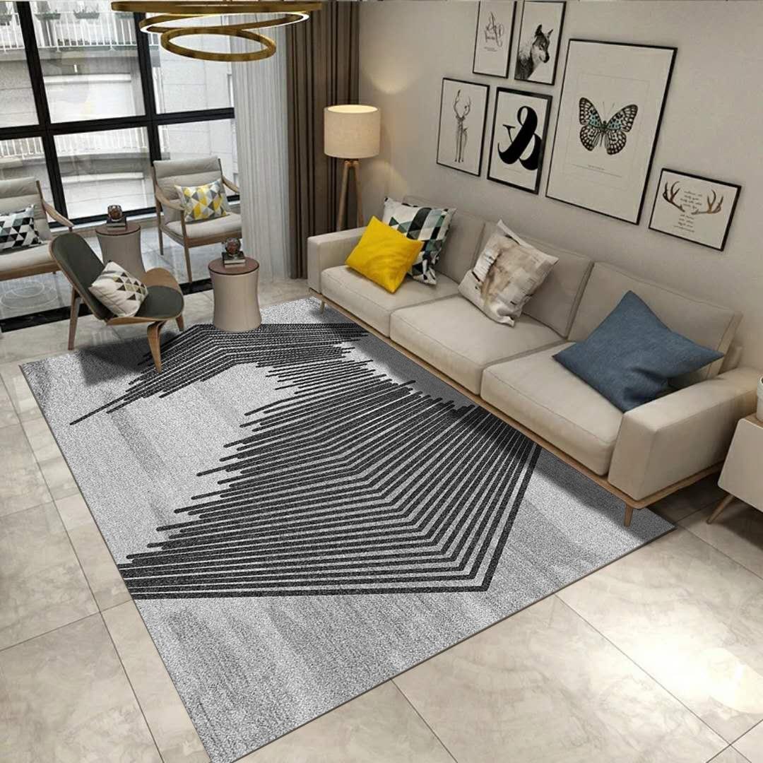Moderne Simple salon tapis nordique ins motifs géométriques Pad maison Shopping tapis zone tapis pour salon