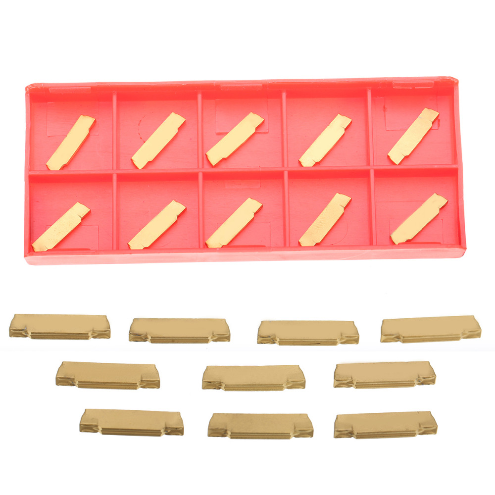 10pcs/set MGMN200-G Carbide Inserts with Box For MGEHR/MGIVR Grooving Cut-off Tool 2pcs mgmn150 g km240 carbide inserts for mgehr 1010 1 5 grooving cutting tool