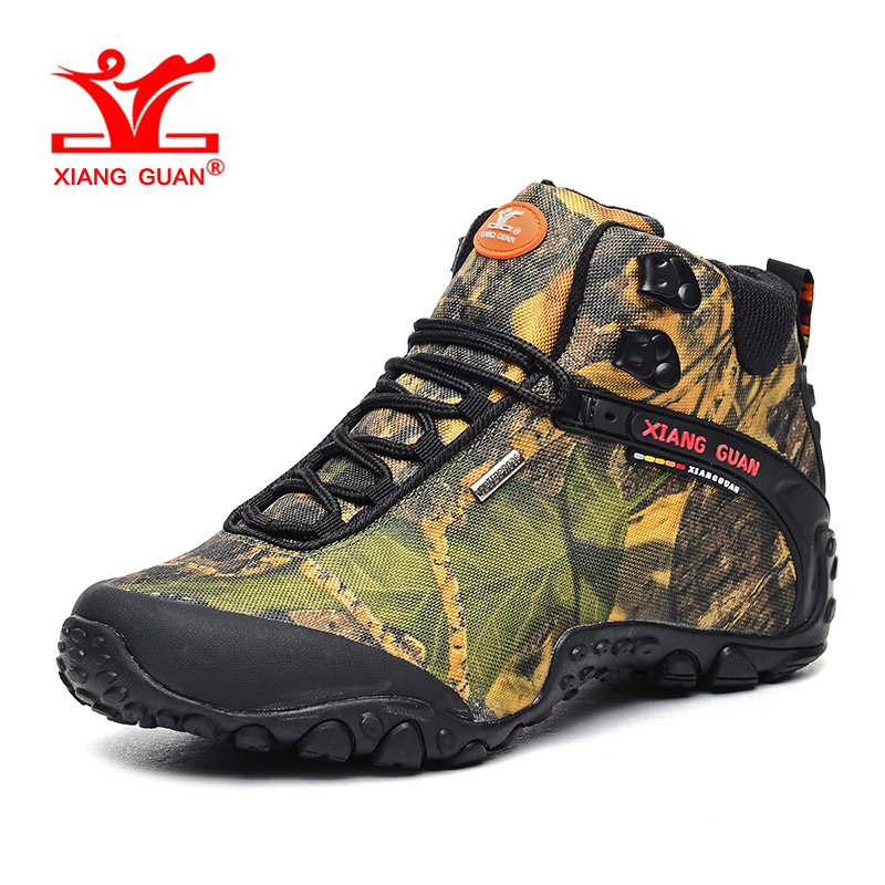 XIANG GUAN Man Hiking Shoes for Men Nice Athletic Trekking Boots Camo Zapatillas Sports Climbing Shoe Outdoor Walking Boot цена