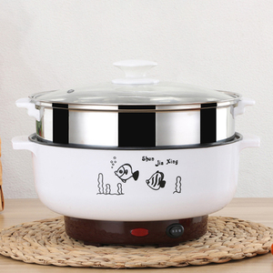 Image 5 - 220V Multifunctional Electric Cooker Heating Pan Electric Cooking Pot Machine Hotpot Noodles Rice Eggs Soup Steamer Cooking Pot