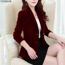 YTNMYOP женский тонкий пиджак на одной пуговице офисный женский костюм с длинными рукавами пальто Верхняя одежда XS-2XL однотонные Топы