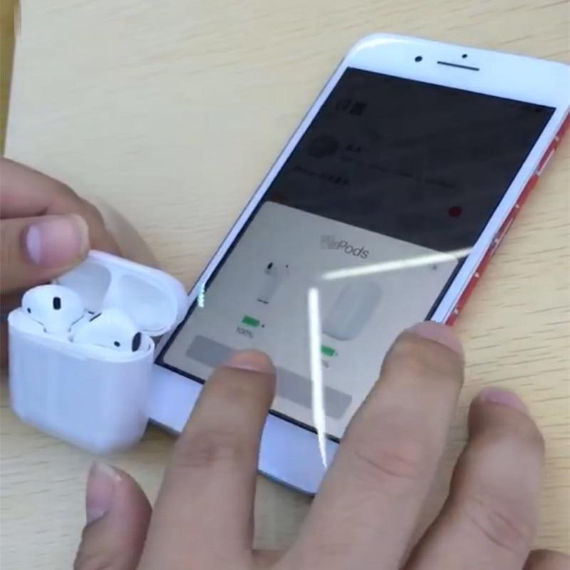 W1 puce Date 1:1 Air pod batterie pop up mini bluetooth sans fil Connecter Casque et écouteurs pour iphone 7 8 X XS Max PK i10