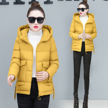 YICIYA Women yellow coat parka hooded jacket plus size big 2019 winter coats thick warm solid clothes female outerwear spring