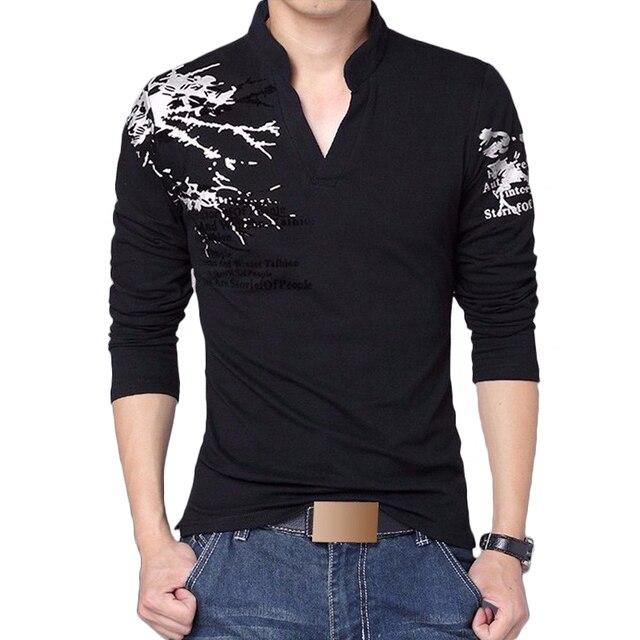 Polo hombres 2017 nueva tendencia moda impresión Slim Fit Polos camisa  hombres Camiseta cuello pico Casual f6bc5f8cbb890