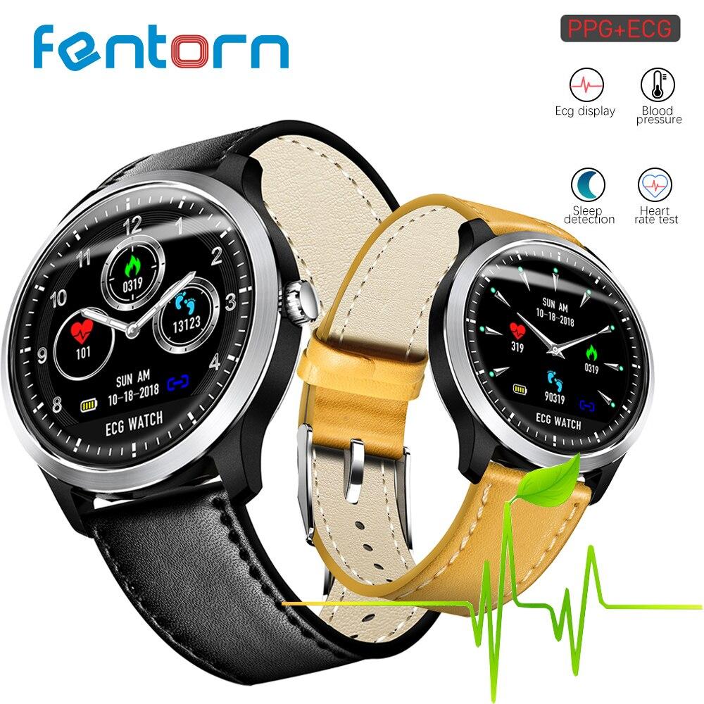 Fentorn N58 montre intelligente ECG + PPG fréquence cardiaque surveillance de la pression artérielle IP67 poof podomètre sport Fitness Bracelet hommes femmes
