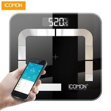 ICOMON i31 напольные весы для ванной комнаты Напольный СВЕТОДИОДНЫЙ цифровой умные весы Bluetooth bmi бытовые весы для багажа 20 тела данных